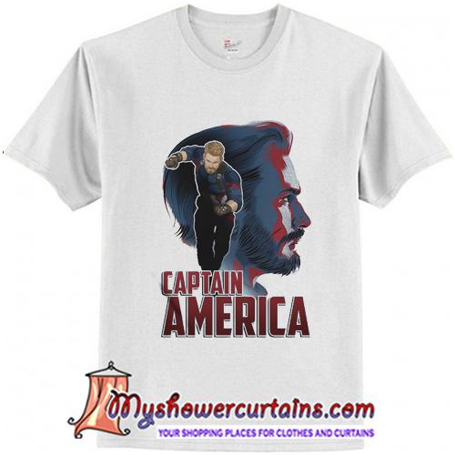 Captain America Profile Graphic T-Shirt