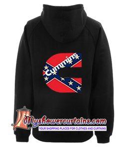 Cummins Confederate Flag Hoodie back