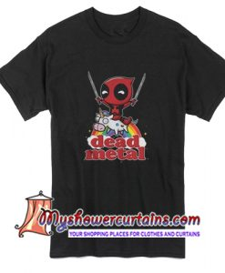 Deadpool Riding Unicorn Metal T Shirt