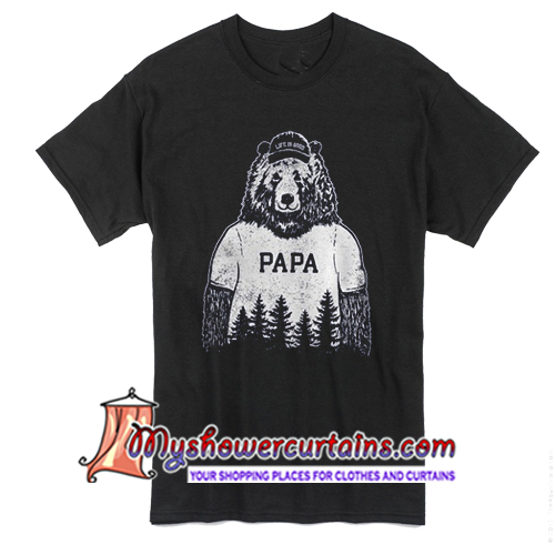 6c36557d164 Life Is Good Papa Bear T Shirt - myshowercurtains