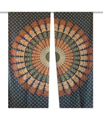 Peacock Feather Mandala Shoercurtains