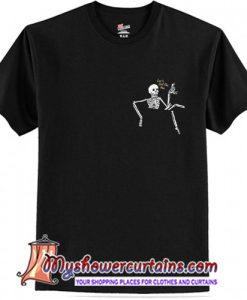 Skeleton pocket print T-Shirt