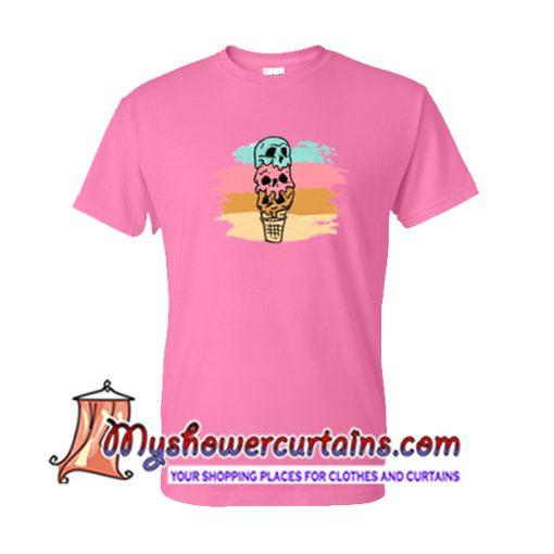 Skull Ice Cream T Shirt
