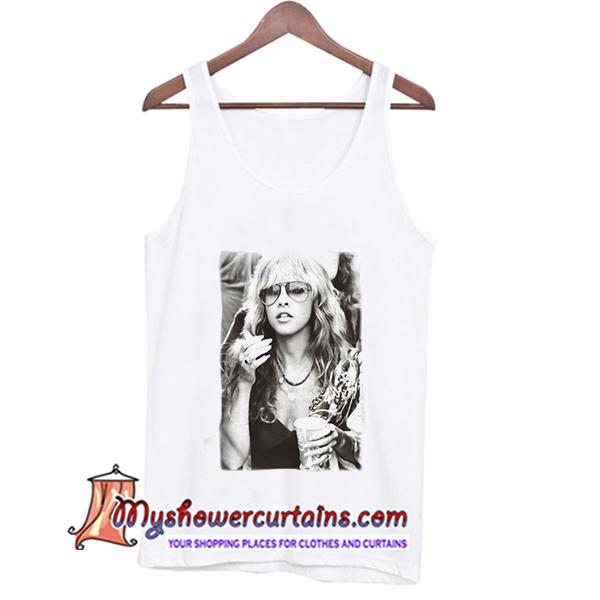 84d196e06 Stevie Nicks young smoking TankTop - myshowercurtains