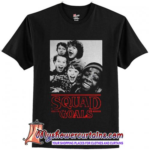 ba696059 Stranger Things Squad Goals T-Shirt - myshowercurtains