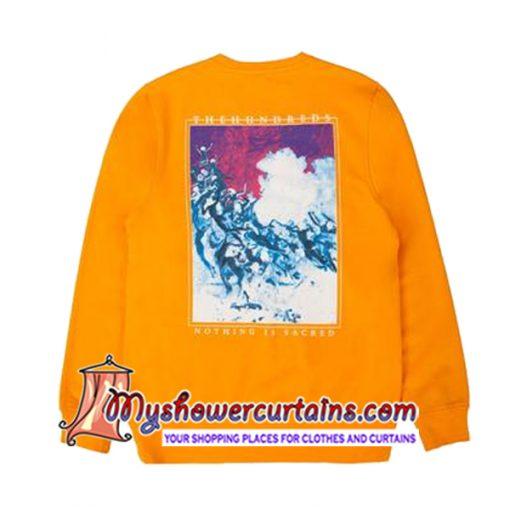 The Hundreds Nothing Is Sacred Sweatshirt back