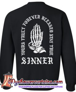 yours truly forever blessed stay true sweatshirt back myshowercurtains