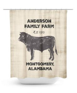 anderson family farm est 1910 shower curtain