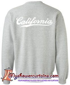 california sweatshirt back