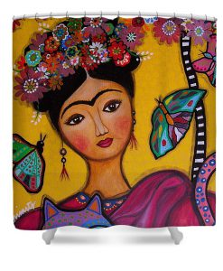 Frida Kahlo shower curtain1