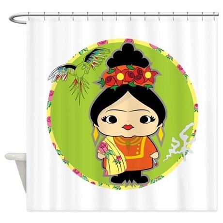 Frida Kahlo Shower Curtain2
