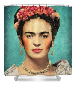 Frida Kahlo shower curtain3