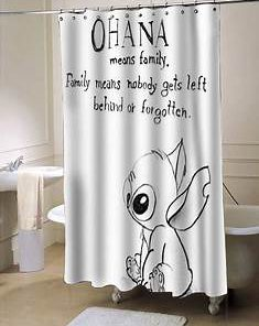 Ohana Lilo and Stitch showercurtain
