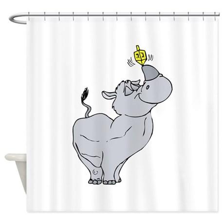 Rhino spinning Shower Curtain
