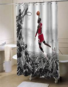 michael jordan fly shower curtain