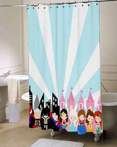 superhero princess shower curtain