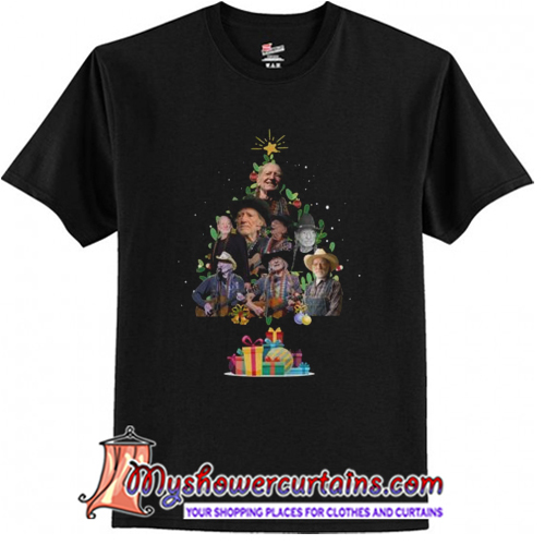 Willie Nelson Christmas Tree T-Shirt