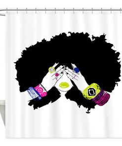 Afro Hair Shower Curtain (AT)