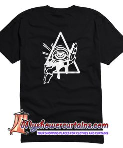 All Seeing Psychic Circle back T Shirt (AT1)