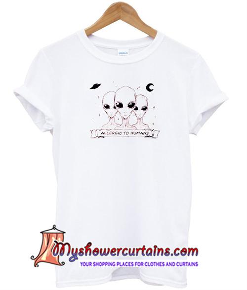Allergic To Humas Alien T shirt (AT)