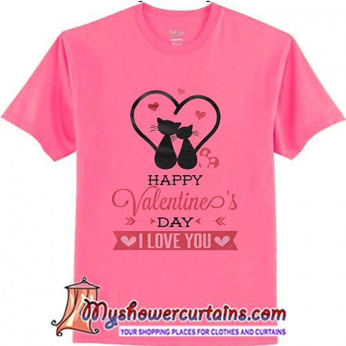 Happy Valentines Day Cat T Shirt (AT1)