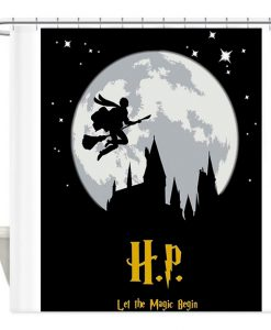 Harry Potter silhouette shower curtain AT