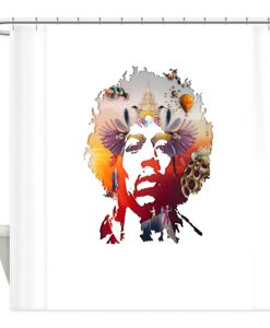 Jimi Hendrix Voodoo Shower Curtain AT