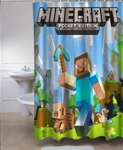 Minecraft Mine Craft Personalized Custom Shower Curtain