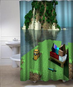 Minecraft Mine Craft Personalized Showercurtains