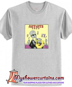 Spongebob And Squidward Artist Only T-Shirt (AT1)