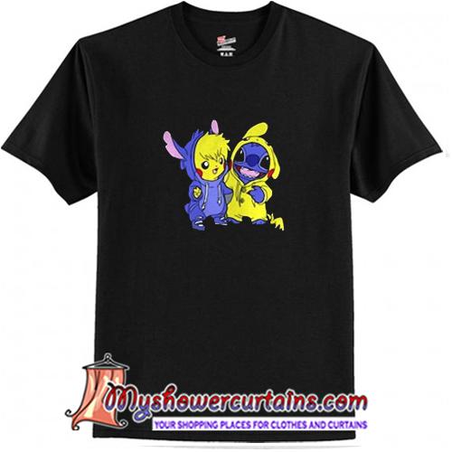 Stitch and Pokemon T Shirt (AT1)