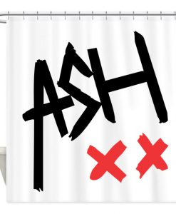 ash signature shower curtain (AT)