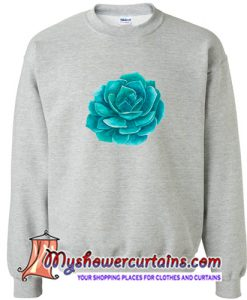 Abstract Cactus Design Crewneck Sweatshirt (AT)