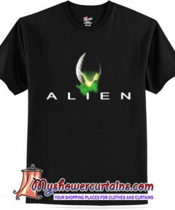 Alien Graphic Black Trending T Shirt (AT)