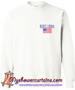 American Flag Print Sweatshirt (AT)