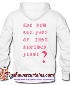 Are You The Fire Or Just Another Flame Hoodie Back (AT)