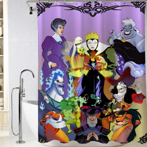 Disney Maleficent All Characters Shower Curtain At