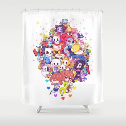 UNDERTALE MUCH CHARACTER Shower Curtain At