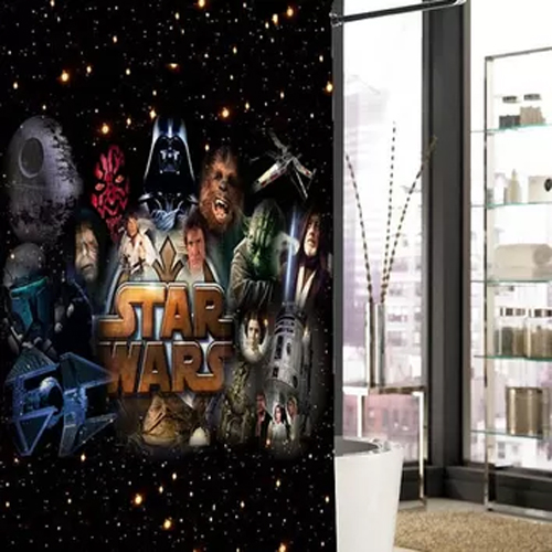 star wars all character shower curtain At