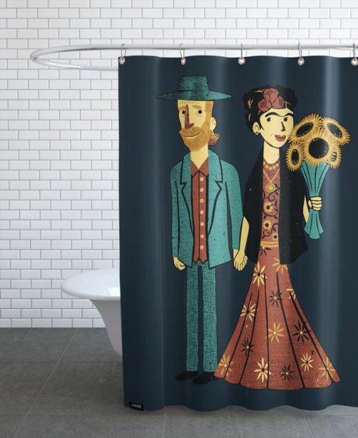 Love Is Art Frida Kahlo Shower Curtain AT