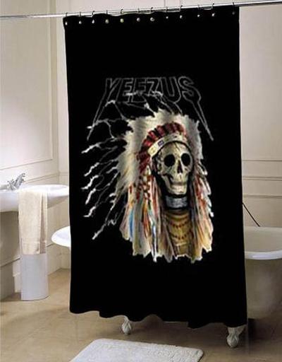 Yeezus Kanye west shower curtain AT