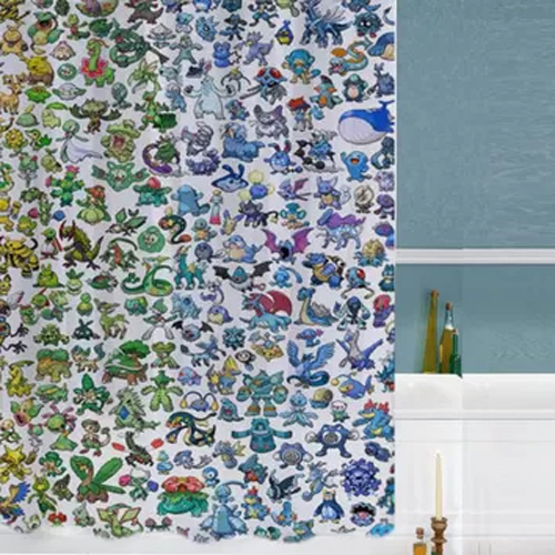 pokemon all special custom shower curtains AT