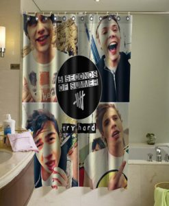 5 Second of Summer 5SOS Shower Curtain (AT)