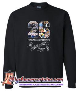 26 Years of Backstreet Boys All Signatures Sweatshirt (AT)