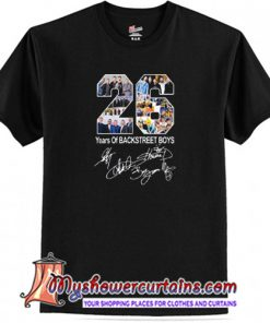 26 Years of Backstreet Boys All Signatures T-Shirt (AT)