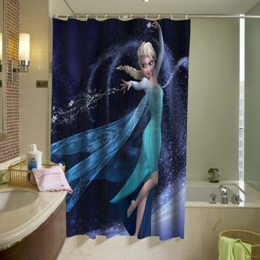 Disney Frozen Snow Queen Elsa Custom Shower Curtain (AT)