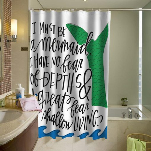 Mermaid Quote Shower Curtain (AT)