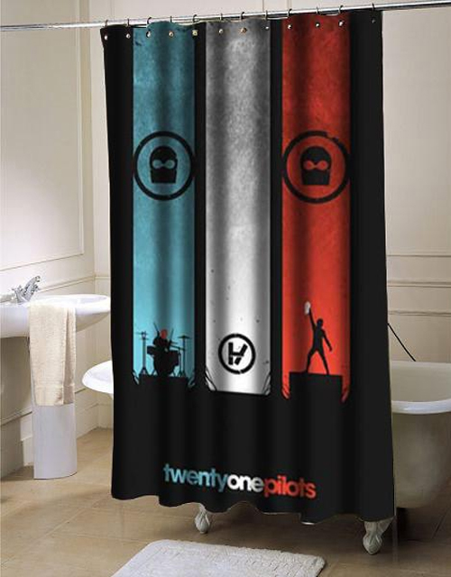 Twenty One Pilots Shower Curtain Customized Design For Home Decor At