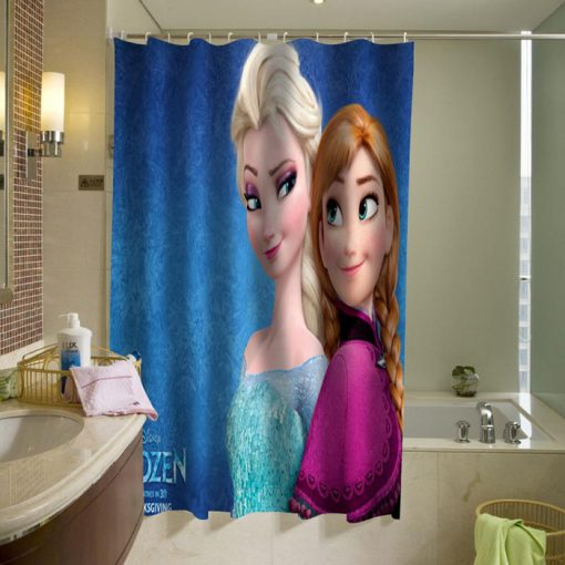 disney frozen elsa and anna shower curtain (AT)