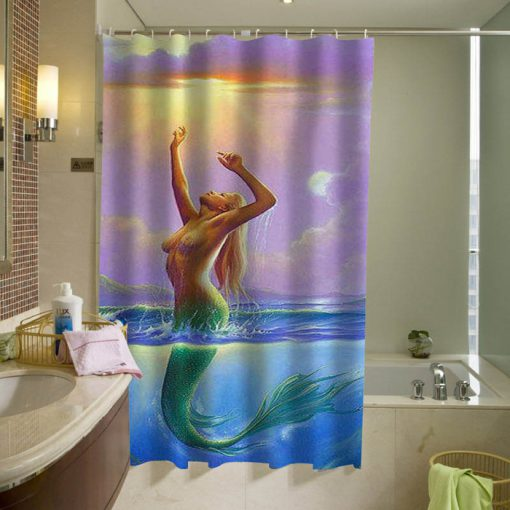 mermaid sexy shower curtain (AT)